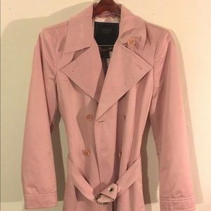 WOMEN'S PINK SHORT COACH LEATHER TRENCH COAT 1941